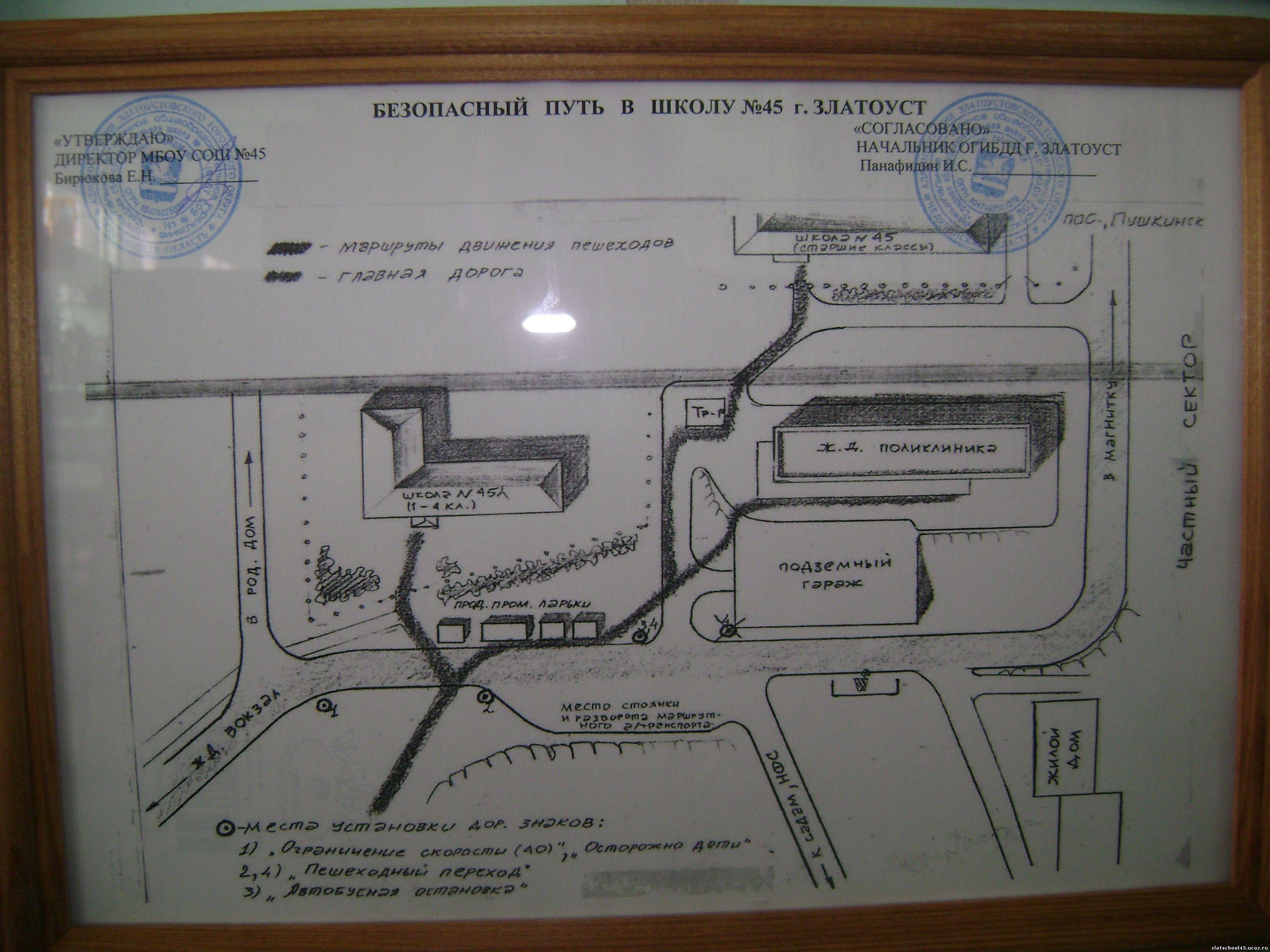 Рисуем схему безопасного маршрута от дома до школы 69